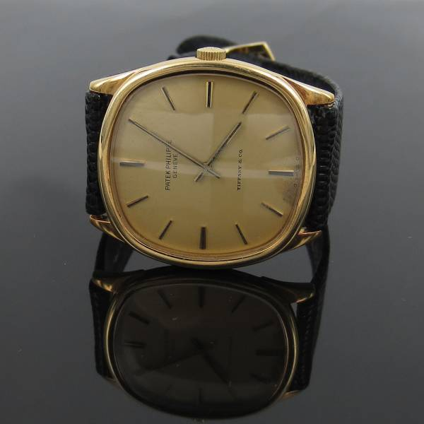 《Tiffanyティファニー&パテックフィリップ》18K腕時計ウォッチ_画像1