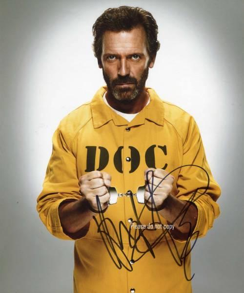 Dr.HOUSE ドクター・ハウス ヒュー・ローリーサイン フォト 他、写真1枚付き