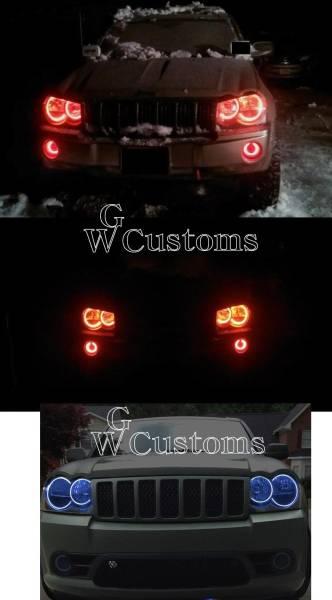 グランドチェロキー LEDエンジェルライトキット イカリング SMD ヘッドライトリング 高品質 米国製 CCFL エアロ_画像2