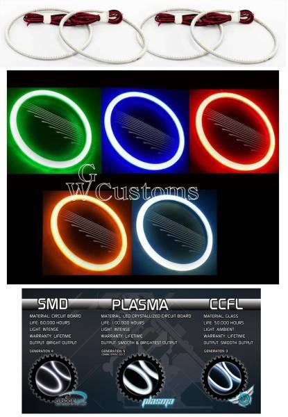 グランドチェロキー LEDエンジェルライトキット イカリング SMD ヘッドライトリング 高品質 米国製 CCFL エアロ_画像3