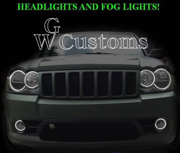 グランドチェロキー LEDエンジェルライトキット イカリング SMD ヘッドライトリング 高品質 米国製 CCFL エアロ_画像1