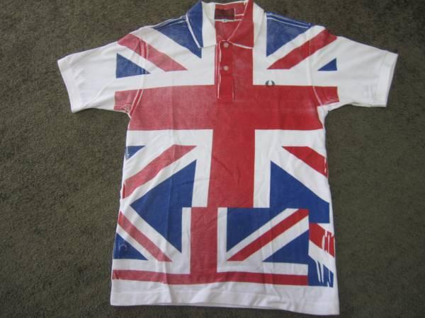 美品別注!コムデギャルソン×フレッドペリーポロシャツ/UK国旗_画像1