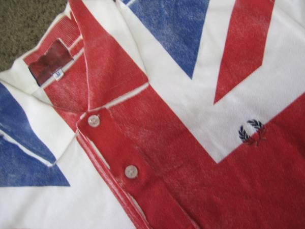 美品別注!コムデギャルソン×フレッドペリーポロシャツ/UK国旗_画像2