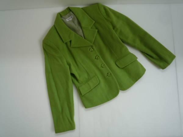 【お買い得!】 ■ STREETS OF LONDON ■ 長袖ジャケット 黄緑系 無地 (9)