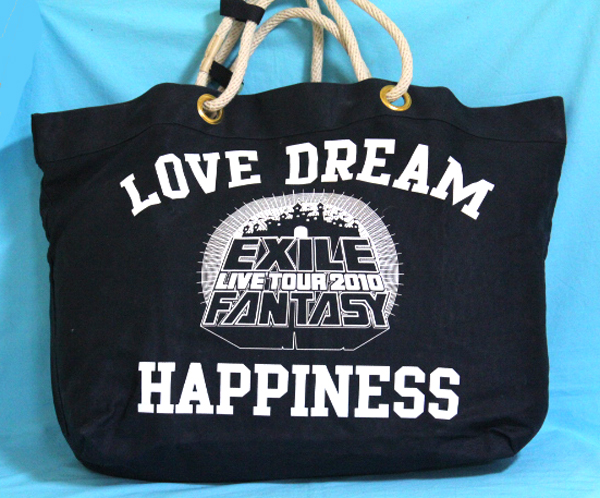 EXILE LIVE TOUR2010 DREAM HAPPINESS 紺色トートエコバック
