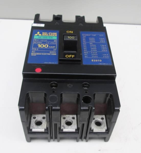 三菱 ノーヒューズ遮断器 ブレーカー NF100-CS #12_画像1