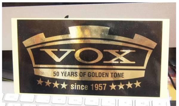 ●ギター(アンプ)メーカー:VOXのステッカー。50th