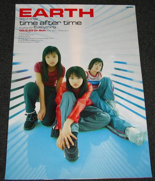 ω10 EARTH/time after time 告知ポスター