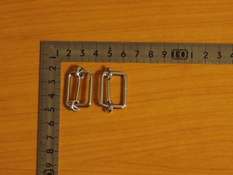 一本線送り(移動カン) 3×21mm シルバー(ニッケル) 30個セット_画像1