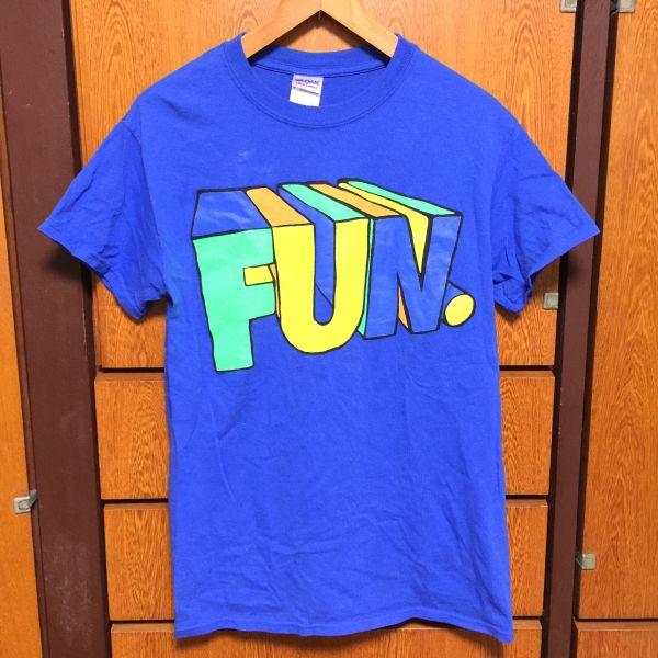Fun. Tシャツ S 青 アメコミ フジロック サマソニ some nights