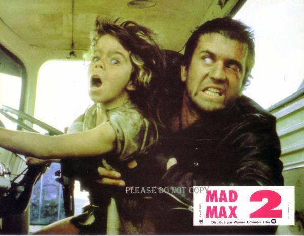 1981年 映画 『マッドマックス2』 メル・ギブソン ロビーカード 2枚組付き