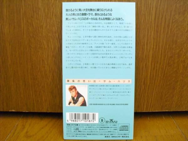 8cmCD サムハリス SAM HARRIS サム ハリス 潮風の思い出 I'D DO IT ALL AGAIN/フジTV系ドラマこの胸のときめきを主題歌 8cm_画像2