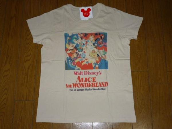 新品 ディズニー コラボtシャツ 不思議の国のアリス クラシック ディズニーグッズの画像