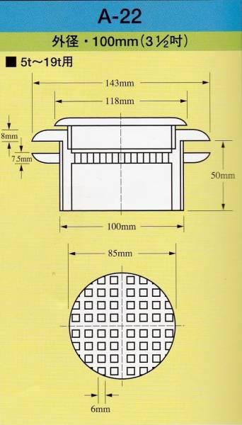 イケダ式スカッパー 5トン~19トン用 マス目「A-22」_画像1