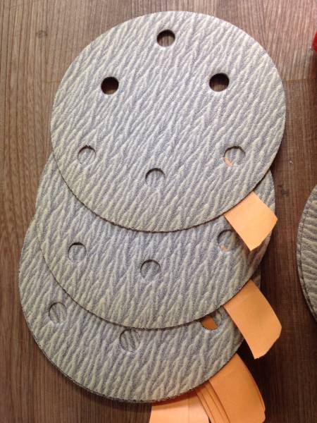在庫処分特価 日本研紙 のり着脱式 ドライタックペーパー #120 100枚 125㎜Φ_画像2