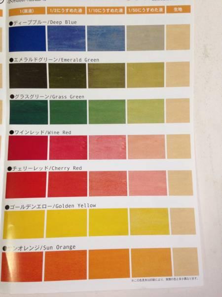 水系顔料着色剤「ポアーステイン ゴールデンエロー 0.9L」屋内用_画像2