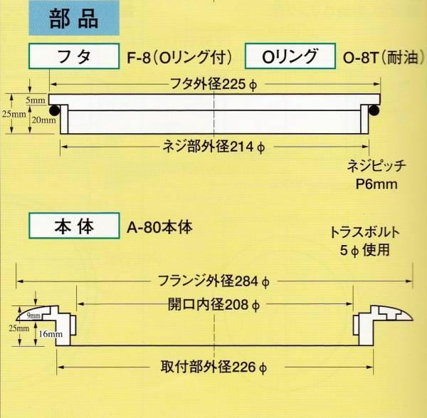 イケダ式スカッパー デッキ用「A-80」_画像2