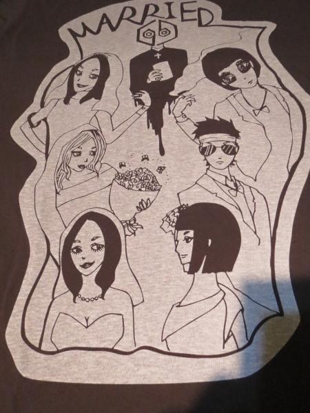 女王蜂×夙川ボーイズ「友情披露宴」Tシャツ キングブラザーズ