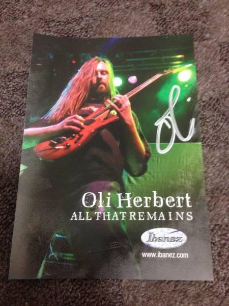 [All That Remains] Oli Herbert 直筆サイン