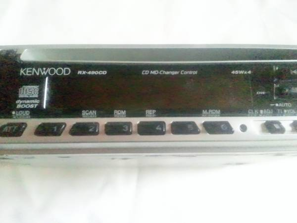 ケンウッドCDレシーバー RX-490CD 中古ジャンンク品_画像1