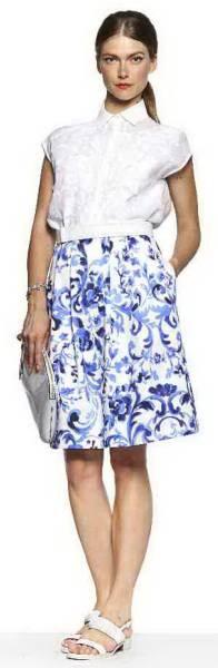新品80%OFF マックスマーラ Max Mara デザインスカート ホワイト 38サイズ_画像3