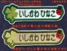 ■ワッペン#160■クローバー&てんとうむし付名札■名前ネーム虫