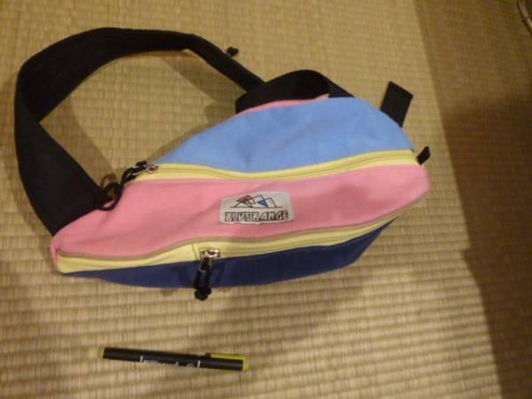 水色 ピンク  クレイジーカラー  ボディバッグ パステルカラー BAG