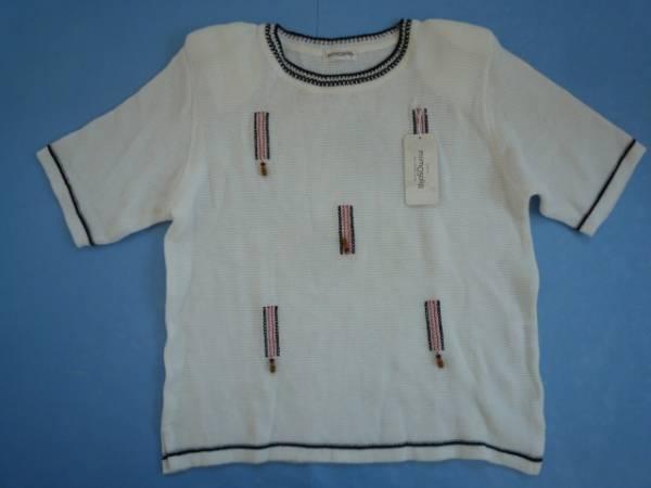 【未使用!!】◆ミモザリップ/mimosalip◆ 半袖ニット F 装飾品