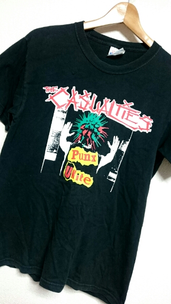 激レア 90S THE CASUALTIES カジュアリティーズ ヴィンテージ PunX UNite Tシャツ S 良品