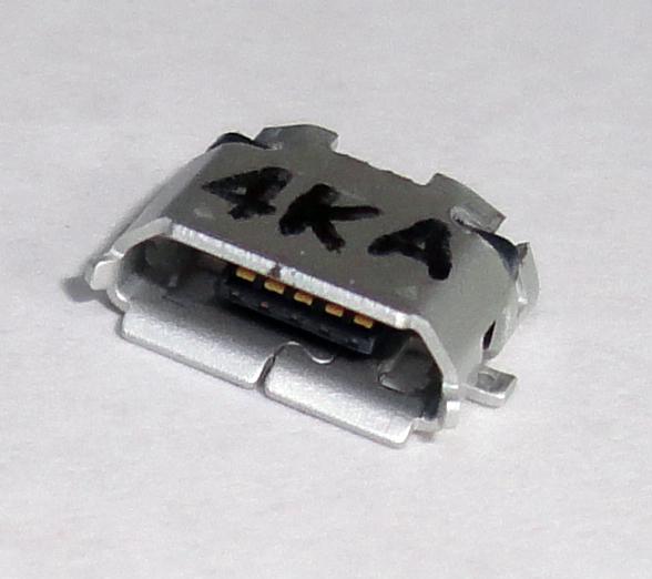 USBコネクタ マイクロB 表面実装 メス microB 修理交換に マイクロUSB コネクタ 送料込