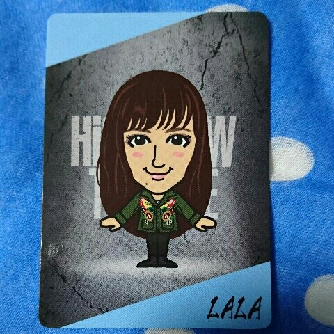 HiGH&LOW THE BACE カード LALA 藤井夏恋 E-girls Happiness