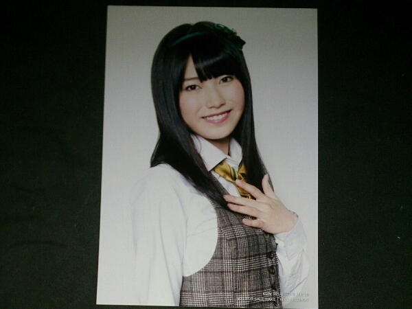 横山由依 通常盤 永遠プレッシャー 生写真 特典 AKB48 Not yet