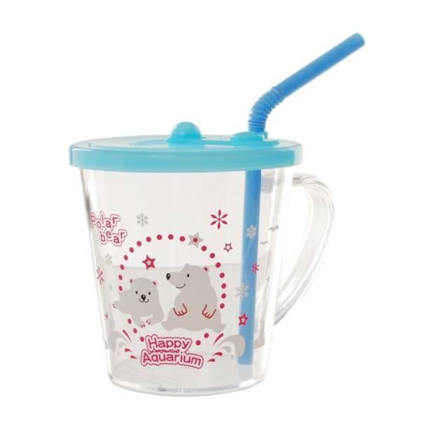 ☆海シリーズ☆プラスチック マグカップ ストロー付 カメ♪_画像3