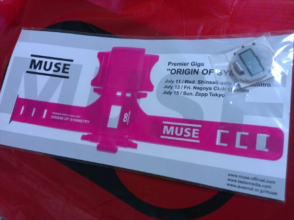MUSE/2001 Premiere Gigs リストバンド 非売品 ミューズ