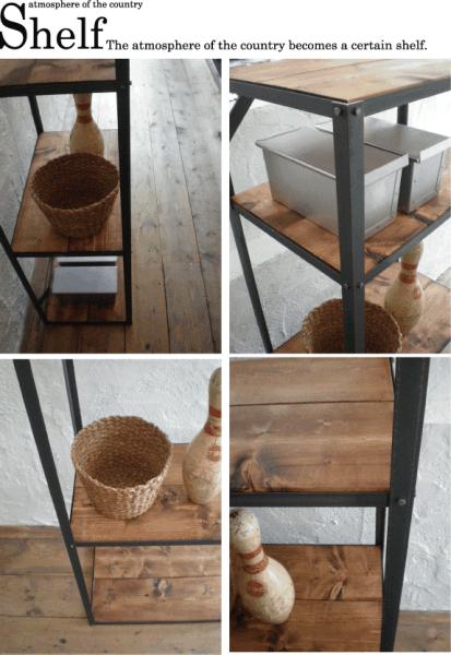 数量限定 アイアン シェルフ 什器 アイアン家具 ディスプレイラック 棚 キッチン 衣装 多目的_画像2
