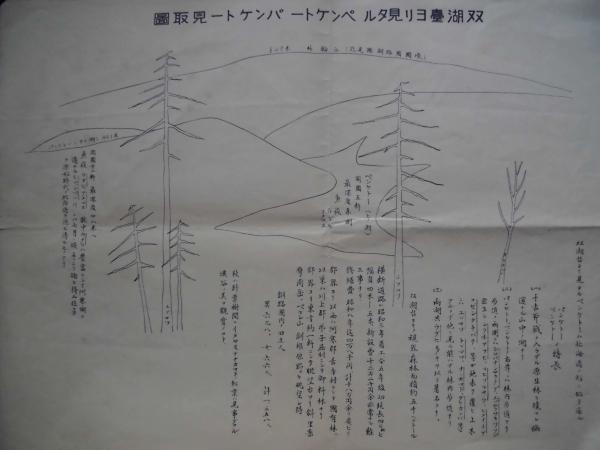 調査資料★北海道 昭和9年7月調製 大観 見取り図  孔版 7点_画像1
