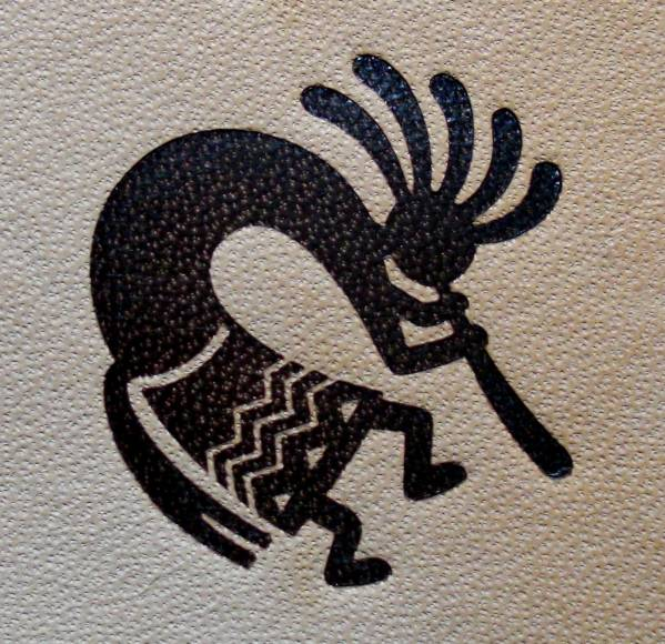 焼印・刻印 Φ26mm Native American 01 Kokopelli 右向_画像3
