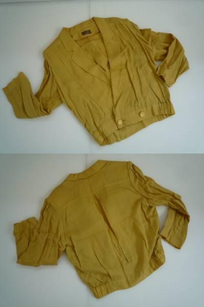 【上下セット!!】◆PARIS◆ ブルゾンスーツ 黄色系 無地 9_画像2