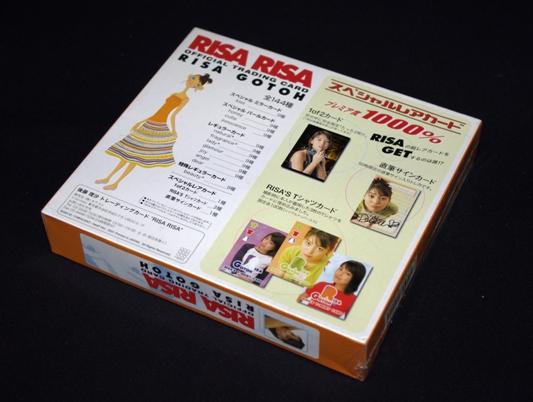 ★新品!未開封! 2001年製 後藤理沙 オフィシャルトレーディングカード RISARISA 1BOX(12パック入り)_★1BOX未開封!(12パック入り)