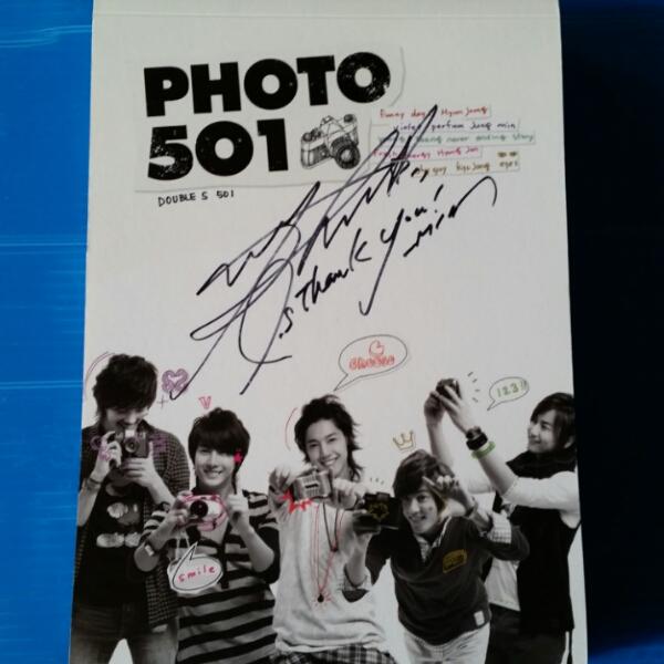 SS501★PHOTO 501★写真集★パク・ジョンミン直筆サイン