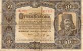 ハンガリー 1920年 50 Korona 紙幣 421396