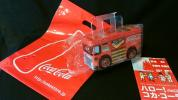 Coca Cola Logo Mark entering truck type savings box present attaching tin plate unused new goods