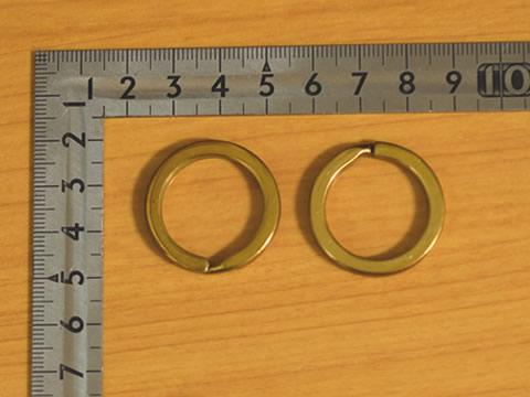 平押二重リング 22mm 真鍮無垢(生地仕上げ) 8個セット 金具屋com_画像1