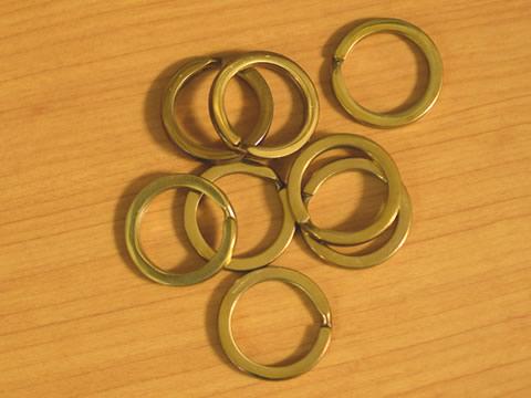 平押二重リング 22mm 真鍮無垢(生地仕上げ) 8個セット 金具屋com_画像2