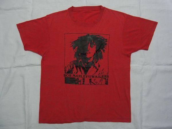 ☆80s ビンテージ Bob Marley & The Wailers ボブ・マーリー & ザ・ウェイラーズ Tシャツ☆USA古着 90s レゲエ ロック スクリーンスターズ