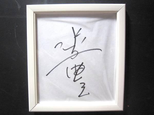3880 サイン 色紙 俳優 水谷豊