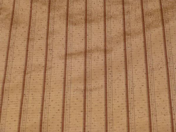 新品正絹反物★鹿児島県・本場縞大島紬着尺★薄茶地に縞柄です_画像3