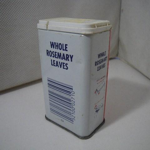 ビンテージ スパイス缶 SCHILLING Rosemary d245_画像2