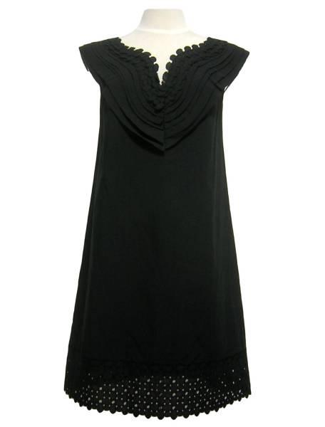 新品 VIVIENNE TAM ヴィヴィアンタム コットンワンピース ドレス ブラック_画像1
