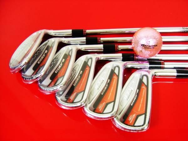 ゴルフを上手にする名器はオレンジ色がビビッドで精悍で端整でカッコイイ!何故か明石家さんま氏も絶賛していたコブラ(PUMA)AMP8本組が◎_美しい!道具としての性能も十二分にあるね